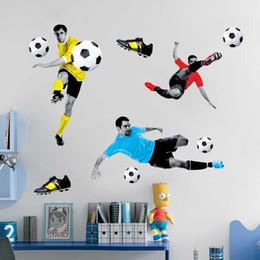 3D Fußballspiel Wand Sticke World Cup Wall Poster Entfernbare Wandtattoos  Wohnkultur Kunst Aufkleber Für Wohnzimmer Schlafzimmer 5 STIL