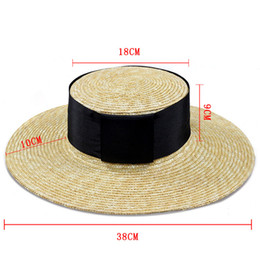 9fa6ca9c8c8 Super wide Wide Brim straw hat summer female hat ladies beach Sun visor  Panama hats women summer Natural Straw Boater Hats