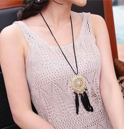 Yeni Stil Hint rüya yakalayıcı tüy kolye Bohemian kazak zinciri sıcak tarzı takı moda klasik nefis nereden