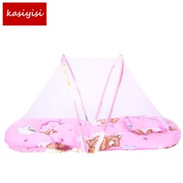 Wholesale Type Mosquito Gauze - Baby Bed Nets Folding Mosquito Nets Infants Young Children Sleeping Pad Pillow Bedspread Mosquito Net Cartoon Cotton Bedspread