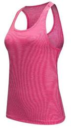 Chaleco para correr online-Mayor-Profesional Fitness Tank Top Sexy Mujeres Deporte Camiseta Chaleco Entrenamiento Ejercicio Ropa Correr Correr Gimnasio 4 colores tamaño S-L