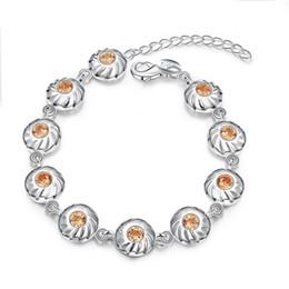 Garilina eingelegten orange Zirkonia Silber Armband für Frauen Modeschmuck Großhändler B2046 von Fabrikanten