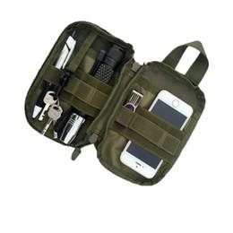 petit sac tactique Promotion Date Sports de plein air sacs 600D Nylon Tactique EDC Molle Pouch petite taille Pack Sac Poche pour Iphone 6 7 pour Samsung