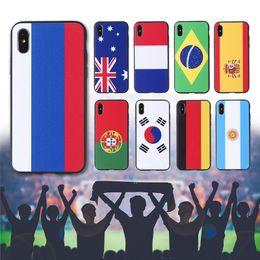 Aplicável nova bandeira do Campeonato do Mundo iphoneXS MaX pintado escudo do telefone móvel 7 plus anti-queda iphone6s capa protetora atacado de