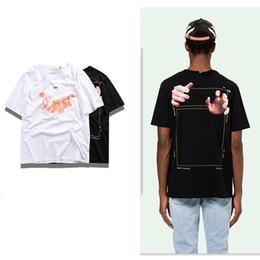 Top qualité New Hot Fashion Vente Marque Vêtements rayure Imprimer Chemise  en coton hommes Femmes t-shirt styles S-2XL blanc 515 464ce40f74c