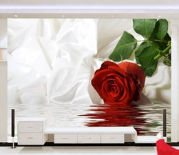 Wholesale Red Fiberglass - Custom Photo Wallpaper 3d huge mural red rose papel de parede bedroom sofa tv wallpaper murals wallpaper