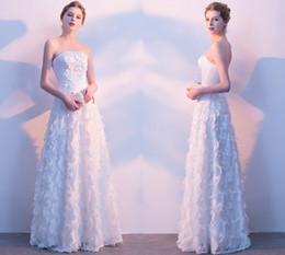 2019 tissus robes de soirée Livraison Gratuite Tube Top Blanc Robes De Soirée Officielles Tissu Spécial Blanc Élégant Reveal Robes De Soirée HY075 tissus robes de soirée pas cher