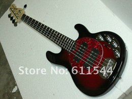 Wholesale Bass Music Man - New Arrival StingRay 5 very beauty Music Man Electric Bass Black Cherry Musical instruments Free Shipping