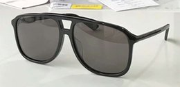 Wholesale Cool Mens Glasses - Cool Mens 0262s 0262 Pilot Sunglasses Black Grey 60mm Sonnenbrille lunet Fashion Brand Sunglass with hard box