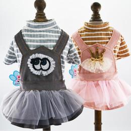 Kaiserliche kleider online-Pet Supplies Frühling Kleidung Mode Kleine Hund Bekleidung Welpen Schöne Rock Prinzessin Kaiserkrone Kleid Heißer Verkauf 20cb Ww