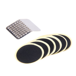 Wholesale tyre patch kit - 1 Set Bicycle Maintenance Tools Cycling MTB Bike Repair Fix Kit Flat Tire Tyre Tube Patch Glueless Patch Tool Kit TL#8