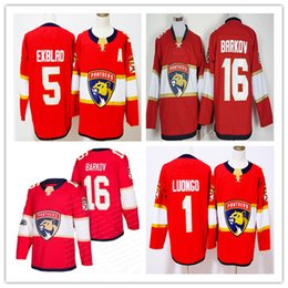 Wholesale Brown Panther - 2018 New Arrival Red White Florida Panthers Ice 16 Aleksander Barkov 1 Roberto Luongo 5 Aaron Ekblad Hockey Jerseys Cheap Stitched