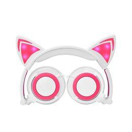 Детские наушники онлайн-2018 Cat LED наушники Cat наушники для взрослых и детей Flash световой Наушники Наушники игры