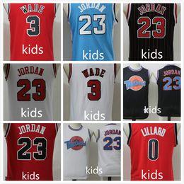 Wholesale michael shirts - HOT Kids 23 Michael 3 wade Jersey boy child youth Stitched Shirts Good Quanlity Mix Order