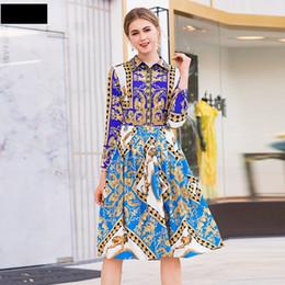 Mode élégante robe plissée automne 2018 nouveau travail de bureau chemise vintage robes printemps doux femmes dames robe imprimée de fête XL ? partir de fabricateur
