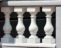 Telhas de plástico on-line-Os moldes de plástico dos ornamento para o emplastro concreto do balaústre para decoram as telhas Home da pedra, jardim plástico da decoração do Abs, Baluster da varanda