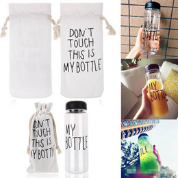 Wholesale cross country designs - My bottle water Bottle Korea Style New Design Today Special Plastic Sports Water Bottles Drinkware With Bag Retail Package