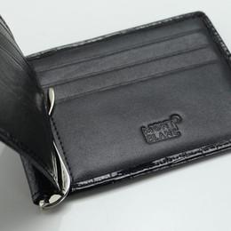 Oro en efectivo online-Los hombres de lujo de cuero genuino MT Wallet Man Cash clip, Luxury MB gemelos Para hombres camisa Oro rosa / / Golden Copper gemelos Como regalo de cumpleaños