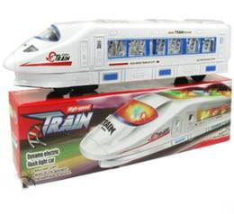 1 UNIDS luz eléctrica música Tren Tren de juguete tren de Alta velocidad Juguetes con pilas Trenes Modelo Gran Niños Juguetes de Navidad Regalos para Niños Amigos desde fabricantes