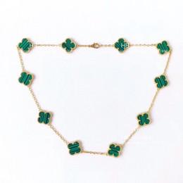 Высокая версия 10 четыре листа цветок ожерелье для леди дизайн женщин партии свадьбы роскошные ювелирные изделия.Подлинная кнопка браслет от Поставщики добавить долго