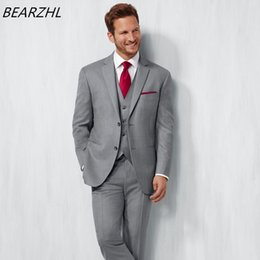 Wholesale Italian Jackets For Men - wedding italian suits for men tuxedo 3 piece suit gray mens performance jackets high quality prom wear