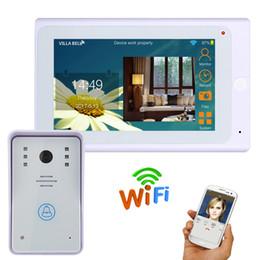 Sistema de intercomunicación a control remoto online-Wired / Wireless Wifi IP Video Door Door Doorbell Kit Video Intercom System HD 720P Camera 7 inch con APP Remote control