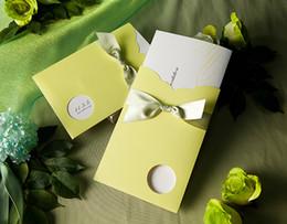 Wholesale Green Invitation Cards - 30pcs Lot laser cut latest indian design invitation cards light green wedding invitation cards