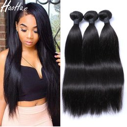 Wholesale Light Brown Remy Hair Weave - 100% Remy Human Hair Bundles Indian Peruvian Cambodian Brazilian Hair Weave Unprocessed Cuticle Aligned Hair Extensions