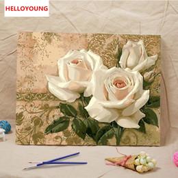 2019 chinesische ölgemälde Blumen blühen Digital-Malerei handgemaltes Ölgemälde durch chinesische chinesische Ölgemälde der Ölgemälde des Ölgemäldes günstig chinesische ölgemälde