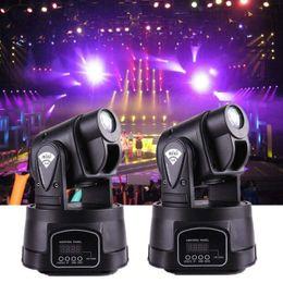 rgb mini spot principale Sconti Mini LED Moving Head Light Spot RGB Stage Lighting Party Dj Disco Club 15W RGB Cambiamento multicolore DMX Controller Spot Wash Light