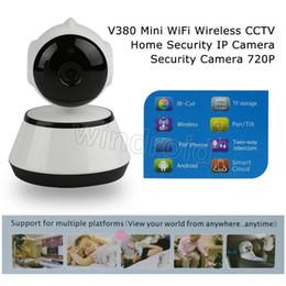 Wholesale Night Vision Wireless Cctv - V380 720P IP Camera Wi-Fi Wireless Surveillance Camera P2P CCTV Wifi Camera IR Cut Night Vision Free APP Home Security Cam Baby Monitor Q6