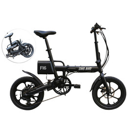 lithium bicycle batteries 36v Promo Codes - CMS-F16 36V 7.8AH 250W Black 16 Inches Folding Electric Bicycle 20km h 65KM Mileage Intelligent Variable Speed System
