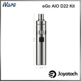 joyetech kit de iniciação Desconto Authentic Joyetech eGo AIO D22 Kit 1500 mAh D22 Bateria 2.0 ML Tudo-Em-Um Estilo Starter Kit Fluxo de Ar Ajustável Anti-vazamento
