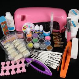 Kit completo per unghie art online-Set di manicure professionale di vendita all'ingrosso-caldo Set di forniture per salone di arte per unghie in acrilico con lampada UV Gel UV Smalto per unghie Set completo di trucco per fai da te