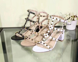 Wholesale Dance Women Sandals - The 2018 women's fashion designer heels party rivet girl sexy dancing shoes wedding shoes with pointed shoes sandals