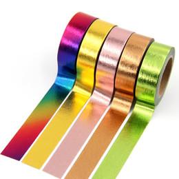 1X10mm * 10 M Yeni Folyo Düz renk kağıt bant DIY dekoratif karalama defteri maskeleme bandı washi kırtasiye ofis yapışkanlı 2016 nereden