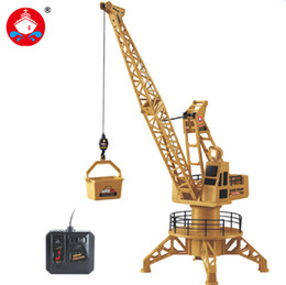 Wholesale crane plastics - Wire Control RC Crane Tower RC Truck Fork Lift Construction Vehicle Playset Model Toys 360 Degree Rotate Birthday GIfts 6820L