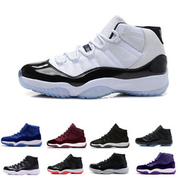 2021 accessori di scarpe da basket Home Scarpe Accessori Calzature sportive Scarpe da pallacanestro Dettaglio prodotto 11 Prom Night Cap and Gown Gym Red Space Jam Vinci come 96 11s Men accessori di scarpe da basket economici