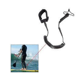 sup boards Promo Codes - Surfboard Leash 10' Coiled NEW!! Stand UP Paddle Sporty Board Leash SUP - Black Surfboard and SUP Leash