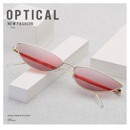 Wholesale dichroic glasses - Small Frame Designer Sunglasses Men Women Cat Eye Dichroic Lens Seaside Holiday Sun Shading Sunscreen Foldable Glasses 17kl cc