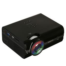 Wholesale Micro Video Projectors - Hot Dropshipping U45 1600 lumens 1080P Multimedia Portable HD LED Projector Micro Home 18mar28