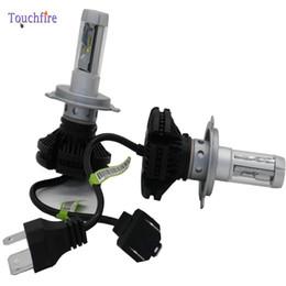 Led-scheinwerfer umbausatz h4 online-Super Bright X3-H4 Scheinwerferbirne Beam DRL Nebel Car Conversion Kit Licht 50W 6000LM 6000K Weiß