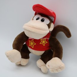 2019 giocattolo di scimmia animale farcito Super Mario Bros giocattoli peluche 2018 nuovi Mario Monkeys e Donkey Kong Animali di peluche 20cm / 8 pollici cartoni animati bambole C4145 sconti giocattolo di scimmia animale farcito