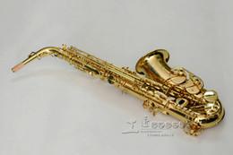 Saxophone laqué doré en Ligne-YANAGISAWA WO10 A-991 Alto Mib Saxophone Marque Qualité Laiton Corps Instruments de Musique Or Laque Surface Sax Avec Embouchure Du Cas