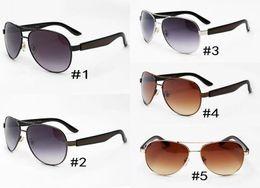 2018 óculos de sol dos homens novos óculos de sol de metal de condução da moda 2319 homens dos homens de grande quadro óculos de sol uv400 qualidade superior MOQ = 10 cheap big frame mirror de Fornecedores de espelho grande quadro