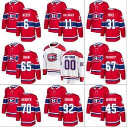e962b0bc6c6 hockey prices NZ - Montreal Canadiens Jersey 92 Jonathan Drouin 11 Brendan  Gallagher 31 Carey Price