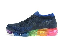 Wholesale Real True - New Rainbow VaporMax 2018 BE TRUE Men Woman Shock Running Shoes For Real Quality Fashion Mens Casual Vapor Maxes Sports Sneakers