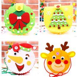 2019 saco de natal atacado Diy handmade candy bag xmas crianças bolsa crianças bebê boneco de neve elk ornamentos party favores natal presente atacado saco de natal atacado barato