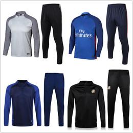Wholesale France Soccer Jacket - top soccer tracksuit set 2018 NEYMAR JR France Training suit 18 19 MBAPPE CAVANI LUCAS Football jacket kit track