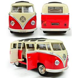 2019 bus jouet vert NOUVEAU Style jouets jouets éducatifs pour enfants de modèle de voiture échelle échelle de voiture, vert rouge couleur Miniature voiture jouets de collection pour cadeau d'anniversaire bus jouet vert pas cher